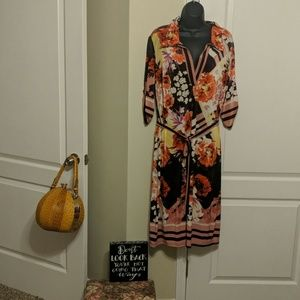Beautiful Floral Dress with Tie